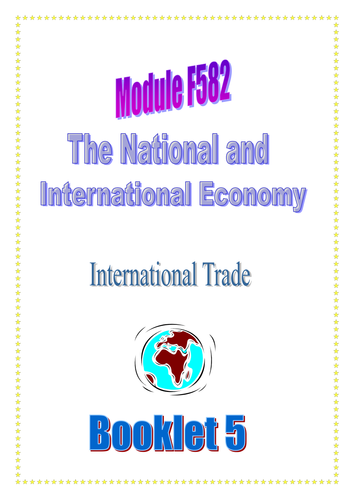OCR A LEVEL ECONOMICS Topic 2 International Trade