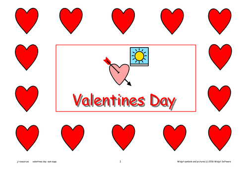 Valentines Day Activity Pack Symbol Supported