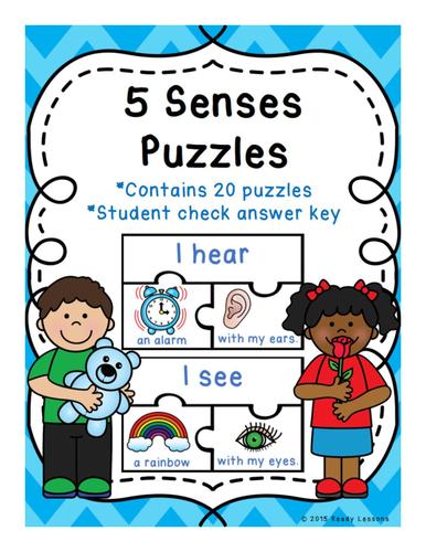 Kindergarten 5 Senses Sorting Puzzles