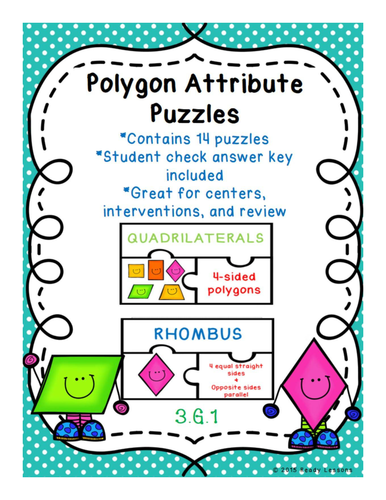 2D Shapes Polygon Attribute Game Puzzles 3.G.1