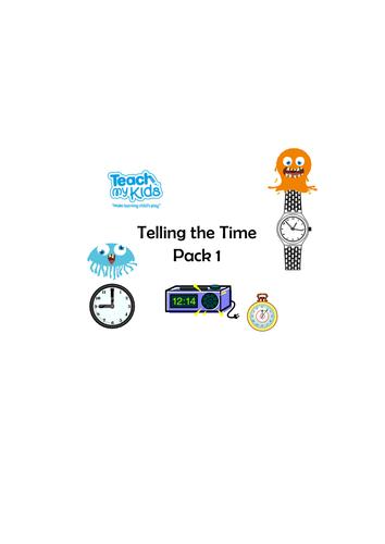 Telling the Time Worksheet Pack 1 - KS1/KS2