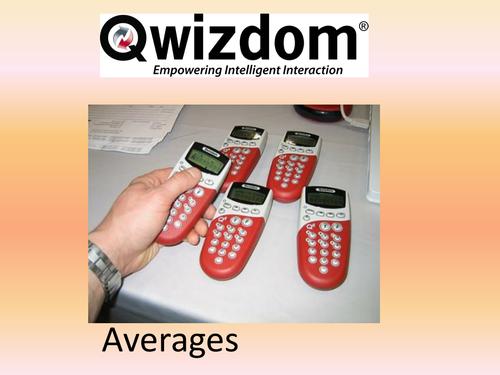 Maths QWIZDOM Powerpoint - Averages Revision Quiz