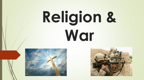 Religion and War  - Template Lesson - Resource Pack