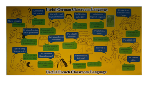 Target Language for Daily Classroom Use (French and German)