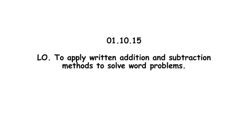 Yr 5 Addition and subtraction word problems main teaching and worksheets 4 levels of challenges +ANS
