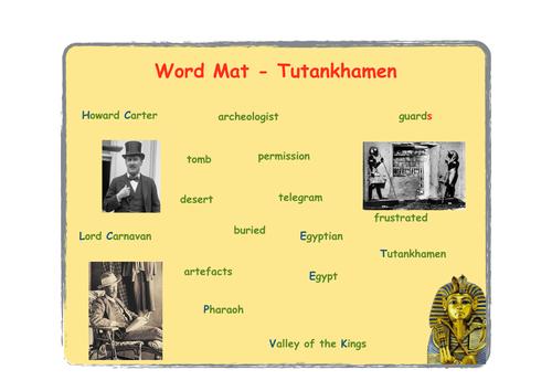 Tutankhamum (Tutankhamen) word mat
