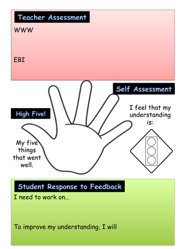 Teacher Feedback With Student Assessment and Response