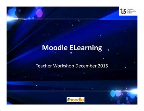 Moodle Workshop for teachers
