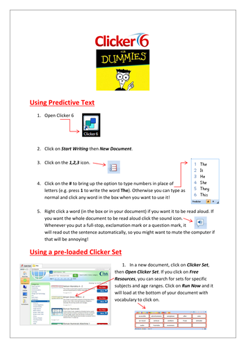 How to use Clicker 6 document
