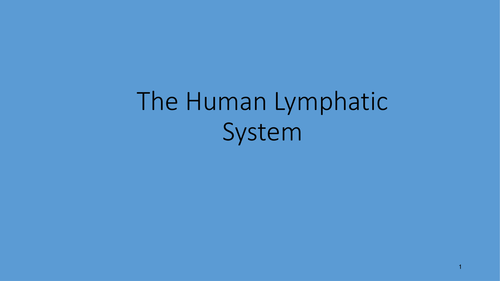 The Lymphatic System and formation of tissue fluid. 2 RESOURCES: PPT and Booklet