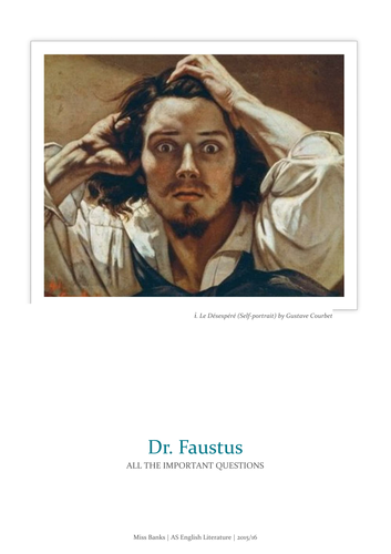 Dr faustus study guide