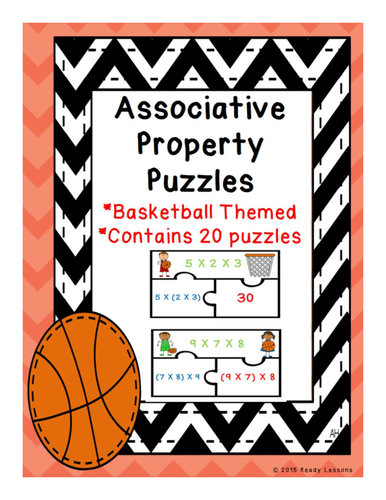 Associative Property of Multiplication Puzzles 3.OA.5