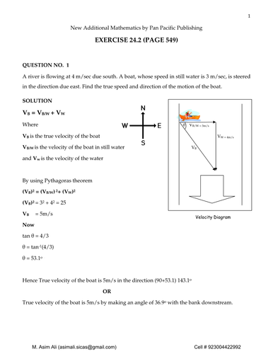 Relative Velocity by Asim4422 - Teaching Resources - Tes