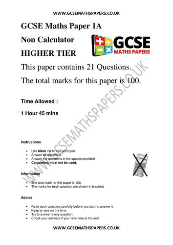 Gcse Maths Revision Resources Tes