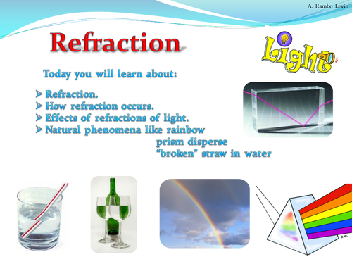 Light Refraction Physics by TeacherRambo Teaching Resources TES – Reflection and Refraction Worksheet