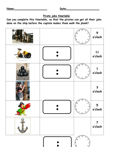 Pirates times (analogue and digital) - differentiated