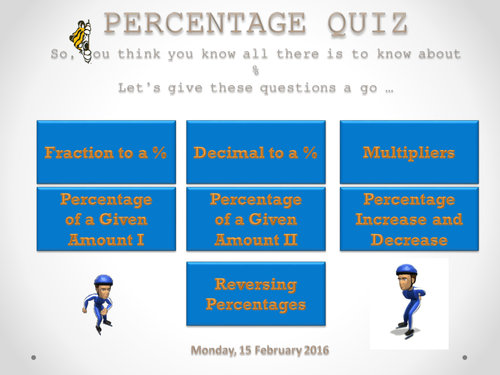 INDIVIDUAL OR GROUP: PERCENTAGE QUIZ