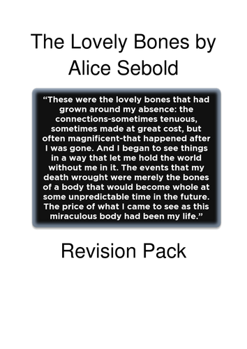 the lovely bones revision resource by kerilo teaching resources the lovely bones revision resource by kerilo teaching resources tes
