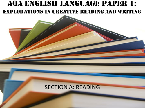 AQA English Language GCSE - Paper 1, Section A- (Qs1-4)- Explorations in Creative Reading
