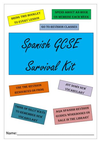 BUMPER SPANISH GCSE REVISION PACK