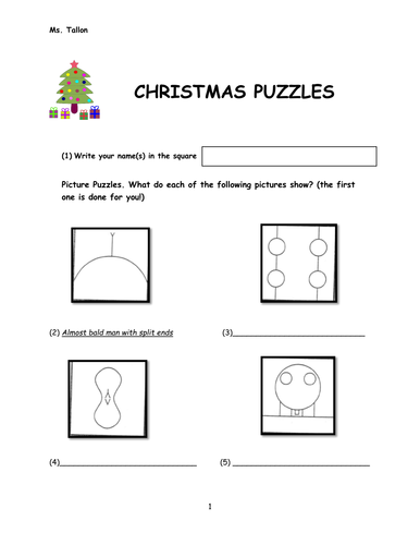 Christmas Brain Teasers With Answers.Puzzles Riddles And Brainteasers By Sarah T3 Teaching