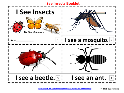 Insects Emergent Reader Booklets