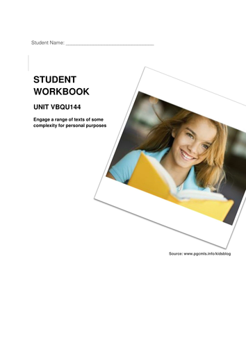 """Workbook: Intro to text types with novel study """"The Simple Gift"""""""
