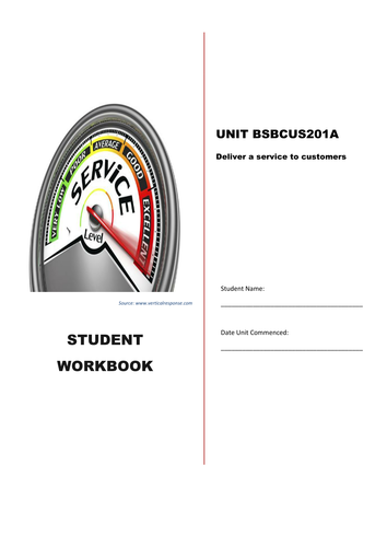 Business skills workbook: Deliver a service to customers