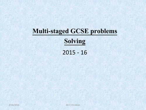 Multi stage problem solving by cchristian teaching resources tes fandeluxe Images