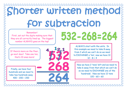 subtraction questions for written methods lesson by pumpkin898 teaching resources tes. Black Bedroom Furniture Sets. Home Design Ideas