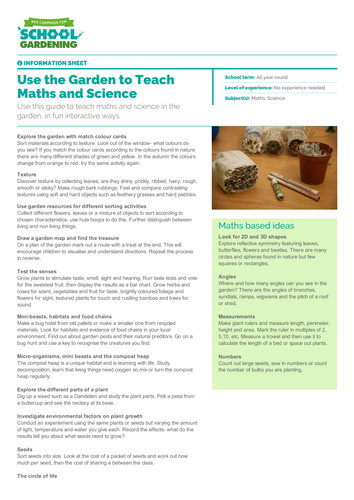 Use the Garden to Teach Maths and Science