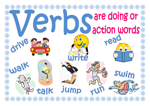 Verbs definition poster by lynellie - Teaching Resources - Tes