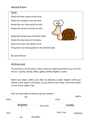 Adverb poem powerpoint and task by singletwinkle26 teaching adverb poem powerpoint and task by singletwinkle26 teaching resources tes ccuart Image collections
