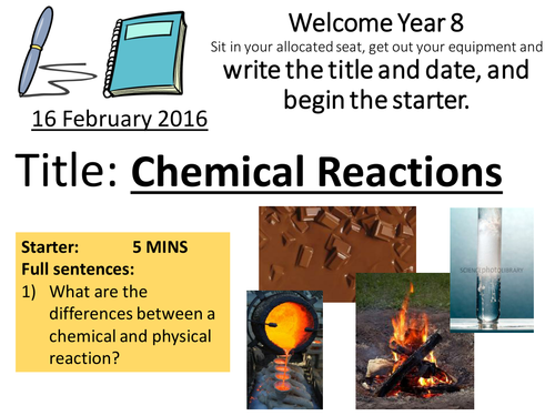 KS3 Chemical Reactions Whole Topic