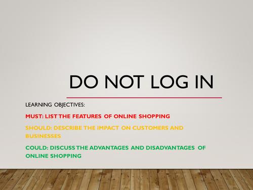 Edexcel GCSE ICT: Unit 4 Online Goods and Services -  Online Shopping