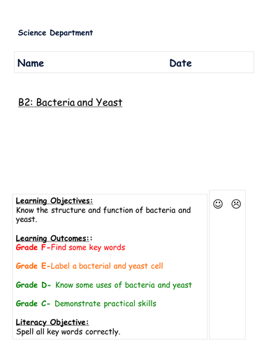 AQA B2 BACTERIA AND YEAST KS4