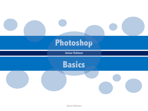 Photoshop: Basic intro