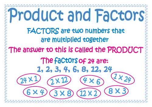 Products and factors
