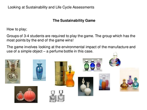 Sustainabilty game