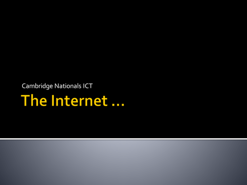 ICT Cover Lesson ...