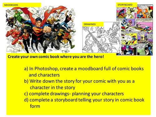 COMIC BOOK DESIGN LESSON