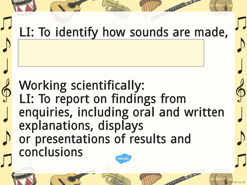 SCIENCE: Sound presentations for the new Y4 topic