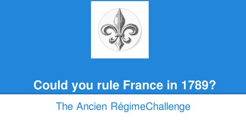 The Ancien Régime Challenge