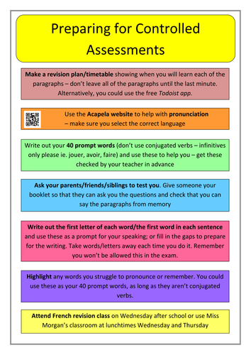Preparing for Controlled Assessments - Tips