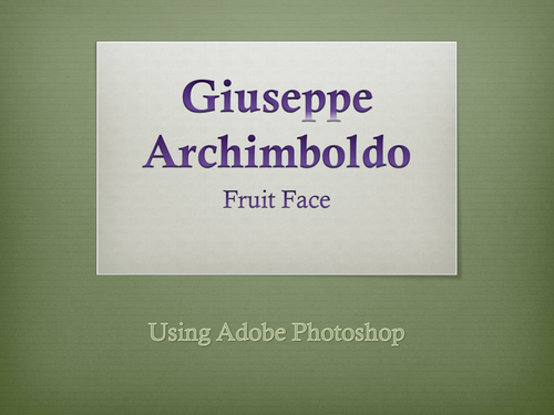 Art/Photoshop: Fruit Face