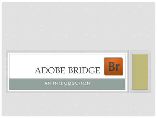 Photoshop: Adobe Bridge