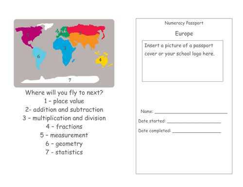MATHEMATICS - Year 3 targets cards for the new curriculum (7 bands of Mathematics)