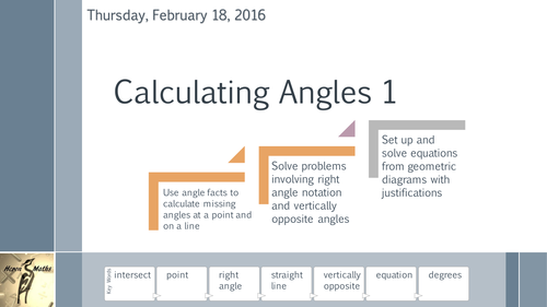 Calculating Angles 1 - About a point and on a line