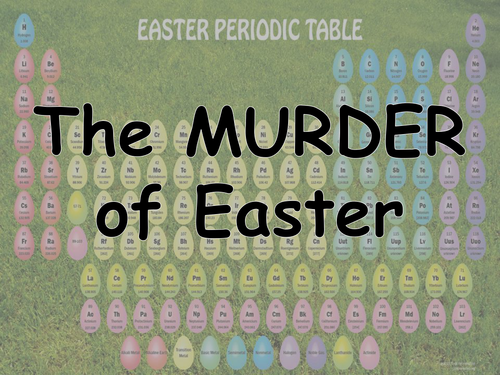 Easter Murder Mystery! Science Easter Activity 2019 (No practical required)