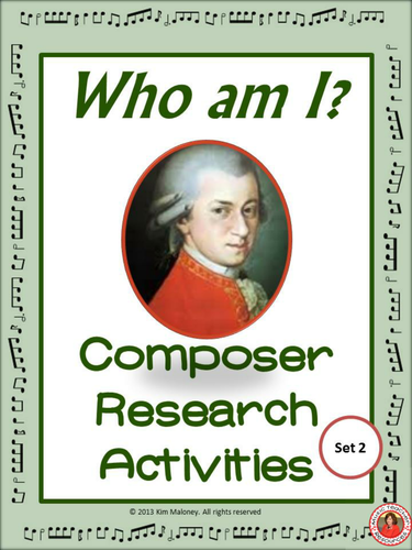 FAMOUS COMPOSERS. Research Activity 2